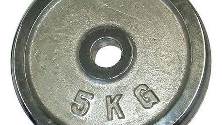 CorbySport 4764 Kotouč chrom 5 kg - 30 mm