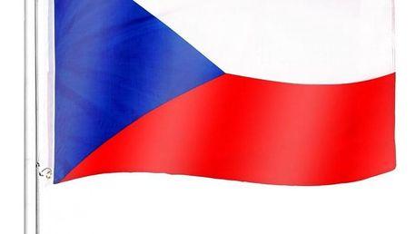 Tuin 60942 Vlajkový stožár vč. vlajky Česká republika - 6,50 m