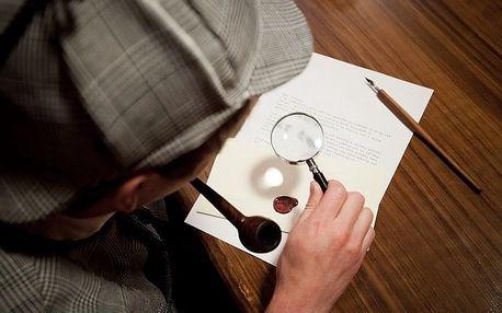 60min. úniková hra Sherlockova kancelář pro 2-5 hráčů na Žižkově