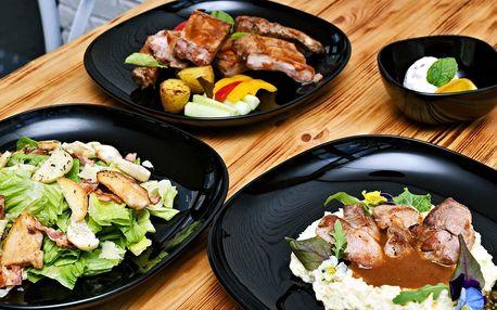 Pohoda s dobrým jídlem: 3 chody u zámku Hostavice