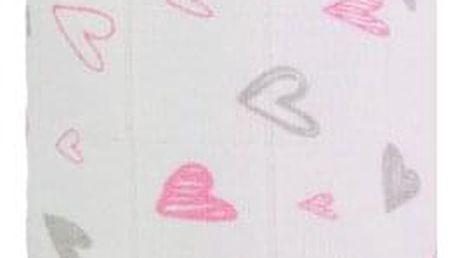 T-TOMI Velká bavlněná TETRA osuška, Pink Hearts