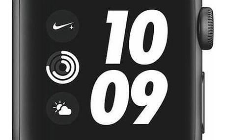 Apple Watch Nike+ Series 3 GPS 38mm pouzdro z vesmírně šedého hliníku - antracitový/černý sportovní řemínek Nike (MTF12CN/A)