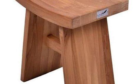 DIVERO 1613 Stolička židle z týkového dřeva