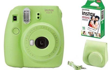 Fujifilm Instax mini 9 + pouzdro zelený