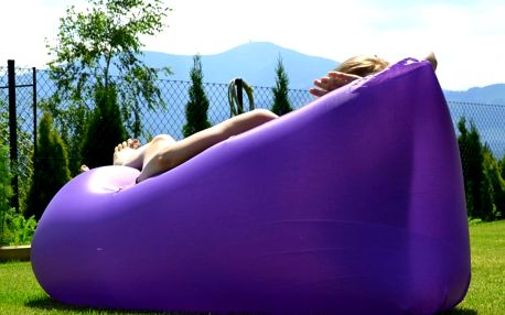 Sedací vak Lazy Bag HooUp violet