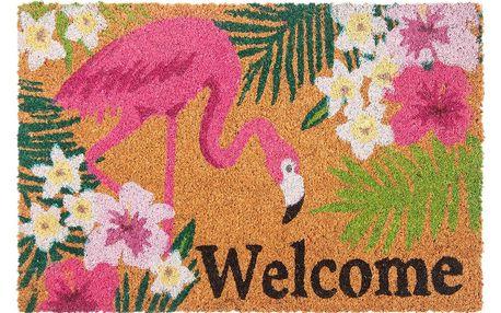 Trade Concept Kokosová rohožka Flamingo, 40 x 60 cm