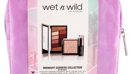 Wet n Wild Color Icon Midnight Goddess Collection dárková kazeta pro ženy paletka očních stínů 8,5 g + rozjasňovač MegaGlo Highlighting Powder 5,4 g Precious Petals + rtěnka MegaLast Lip Color 3,3 g Sand Storm + taštička Rosé In The Air