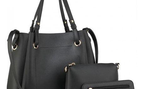 SET: Dámská černá kabelka Irina 666