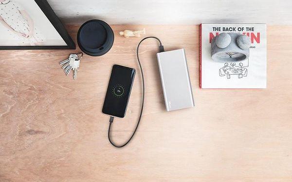 Powerbank Trust Omni Plus 20000mAh, USB-C, QC 3.0 stříbrná (22790)3