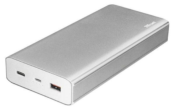 Powerbank Trust Omni Plus 20000mAh, USB-C, QC 3.0 stříbrná (22790)4