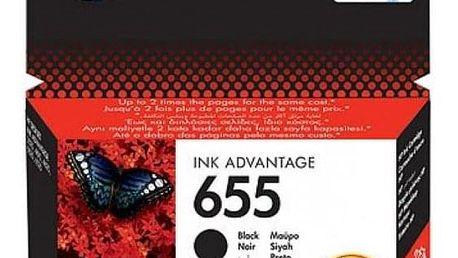 HP No. 655, 550 stran - originální černá (CZ109AE)