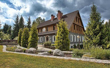 Hotel Perla Jizery pro 2 osoby s polopenzí a saunou v Jizerských horách