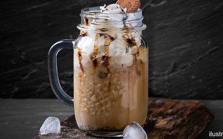 Ledová káva se zmrzlinou a šlehačkou pro 1 i 2 os.