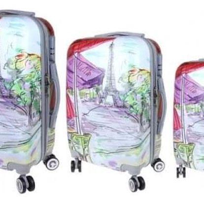 Sada 3 skořepinových kufrů (Art)