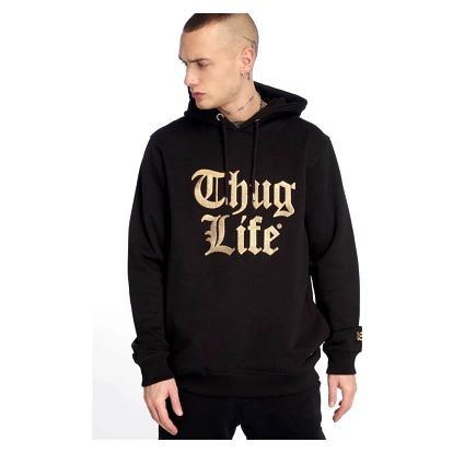 Thug Life / Hoodie Tight in black 2XL