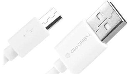 GoGEN USB/micro USB, 2m bílý (MICUSB 200 MM11)
