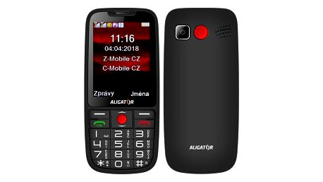Mobilní telefon Aligator A890 Senior černý (A890BK)