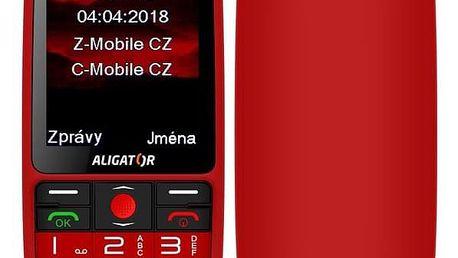 Mobilní telefon Aligator A890 Senior červený (A890RD)