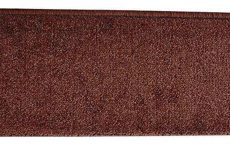 VOPI Nášlap na schody Eton obdelník hnědá, 24 x 65 cm
