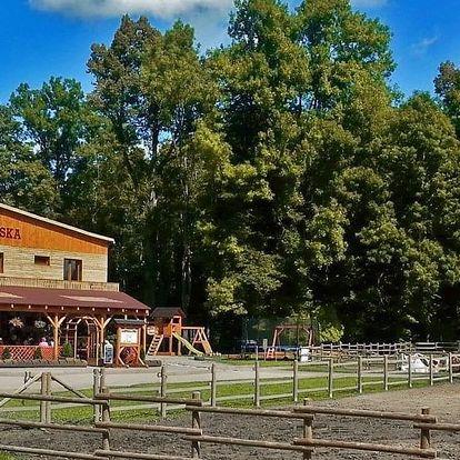 Dovolená na koňském ranči v chatkách i ve srubu