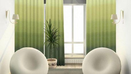 Forbyt Závěs s kroužky Darking zelená 140 x 245 cm