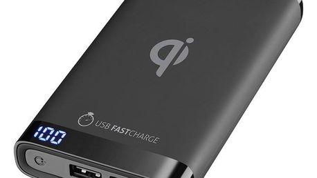Powerbank CellularLine Freepower Manta 8000mAh, Qi černá (FREEPMANTA8WIRK)