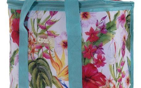 Koopman Chladicí taška Tropical flowers modrá, 16 l