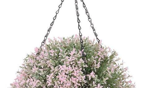 Umělá květina v závěsném květináči Mirabel, světle růžová