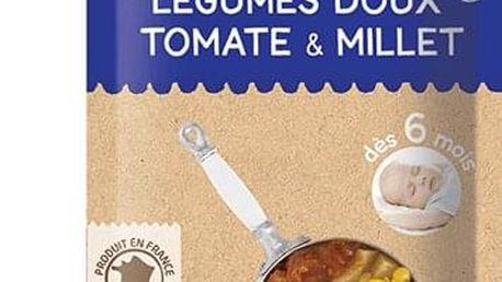 6x BABYBIO Večerní menu sladká zelenina, rajčata, proso 120 g