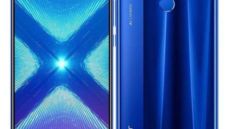 Mobilní telefon Honor 8X 64 GB Dual SIM (51093VPL) modrý SIM karta T-Mobile SIM s kreditem T-mobile Twist V síti 200 Kč kredit - hlasové volání v hodnotě 200 Kč