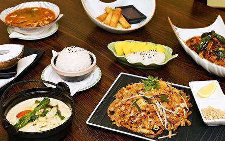 3chodové menu pro 2 v thajské restauraci Mesy