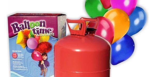 Helium na 30 balonků + 30 balonků King Of Balloons4