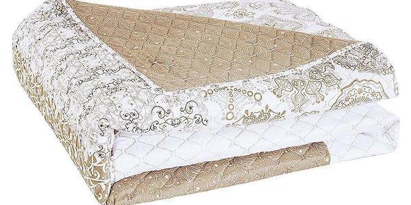 DecoKing Přehoz na postel Alhambra béžová, 220 x 240 cm3