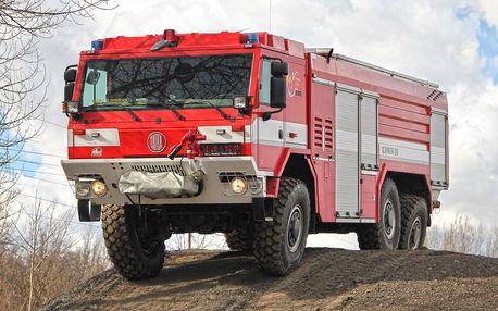 Až 60 minut jízdy v požárním speciálu Tatra