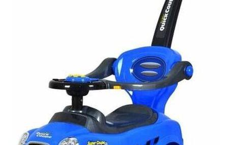 Ecotoys Dětské odrážedlo se zvuky a vodící tyčí Auto, modrá