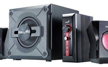 Reproduktory Genius GX Gaming SW-G 2.1 1250 černé/červené (31730980100)