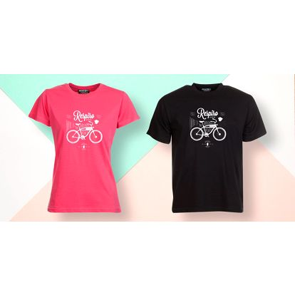 Pánské i dámské bavlněné tričko s motivem kola