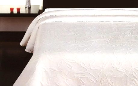 Forbyt Přehoz na postel Floral bílá, 240 x 260 cm