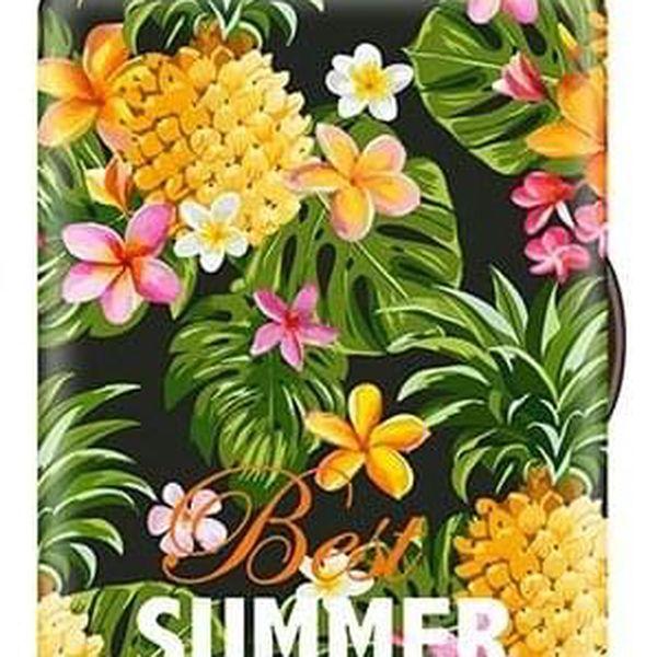 Potah na kufr – květinky | Velikost: S5