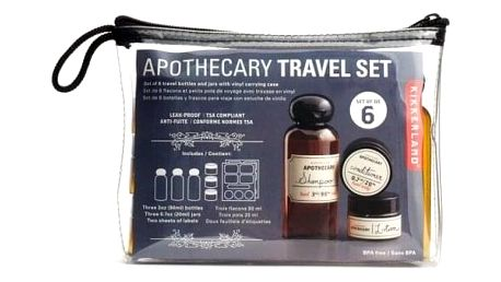 Cestovní sada na kosmetiku, 6 ks
