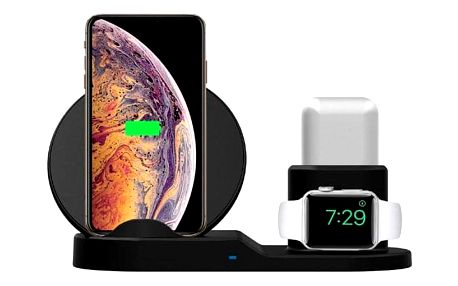 LAMA pro telefon, Apple Watch a Airpods, 15W černá