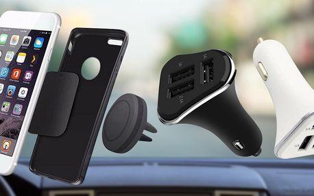 Magnetický držák mobilu i USB autonabíječka