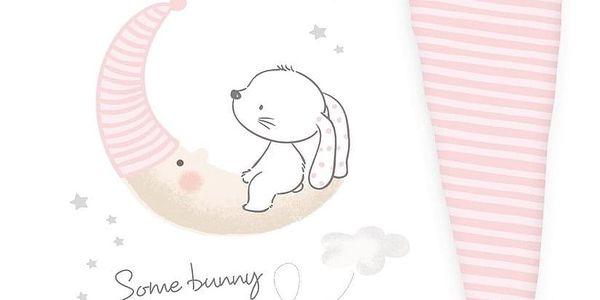 Herding Dětské bavlněné povlečení do postýlky Little Bunny, 100 x 135 cm, 40 x 60 cm