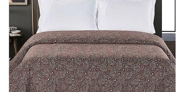 DecoKing Přehoz na postel Alhambra hnědá, 220 x 240 cm2