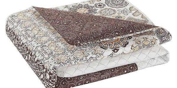 DecoKing Přehoz na postel Alhambra hnědá, 220 x 240 cm3