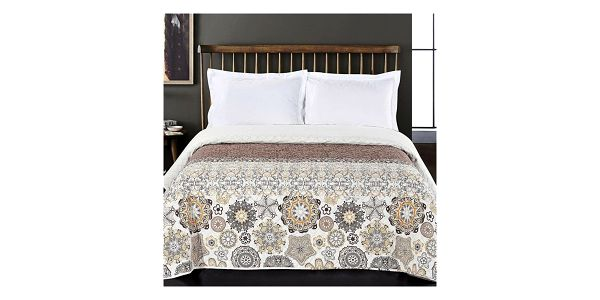 DecoKing Přehoz na postel Alhambra hnědá, 220 x 240 cm