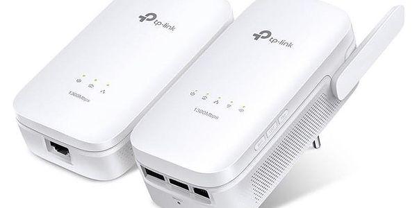 Síťový rozvod LAN po 230V TP-Link TL-WPA8630KIT + IP TV na 1 měsíc ZDARMA bílý (TL-WPA8630KIT)