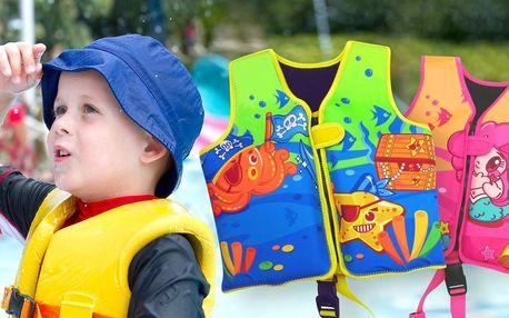 Dětské plovací neoprénové vesty pro kluky i holky