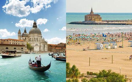 Zkrácená dovolená v Caorle s polopenzí + celodenní Benátky | 5 denní zájezd + 2 noci s polopenzí