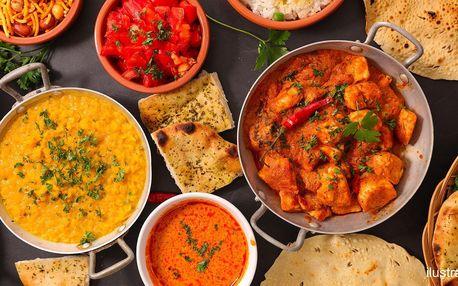 Indické menu pro dva: vege i masové speciality